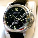 "RESERVED WITH DEPOSIT - Panerai Luminor 40 Chrono Auto Steel/Leather 40mm ""PAM310"" (With Box + Card)"