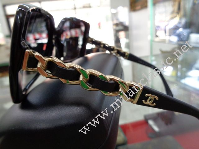 a88424985060 TAKE BACK - Chanel Classic Gold Chain With Leather Sunglasses NEW ...