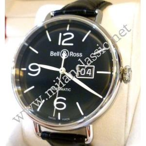 Bell & Ross Vintage WW1-96 Grande Date Black Dial Auto Steel/Leather 45mm