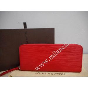 NEW - LV Epi Red Clemence Zippy Wallet