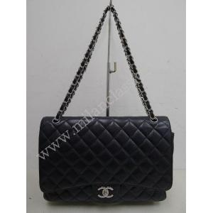 SOLD - Chanel Timeless Classic Maxi Jumbo Double Flap In Black Caviar SHW