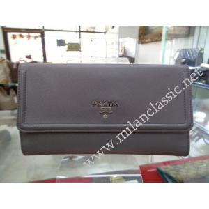 Prada Marmo Saffiano Leather Document Holder Wallet.