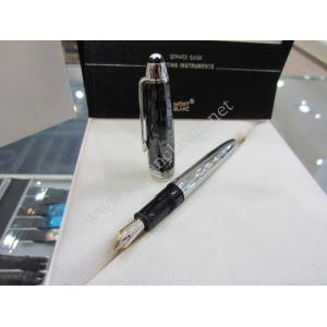 NEW - Montblanc Meisterstuck Solitaire Ceramic/Steel Fountain Pen (Box + Paper)