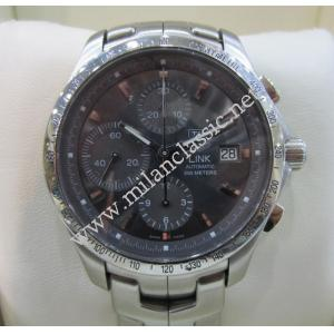 Tag Heuer Link Chrono Tachymeter Grey Dial S/S Auto 42mm(With Box)