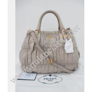 NEW - Prada Nylon Gaufre in Pomice Color with Button