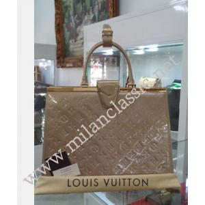 LV Monogram Vernis Leather Deesse GM (Beige Poudre Color)