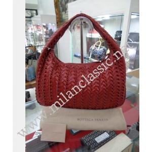 TAKE BACK - Bottega Veneta Uluru Red Tornabuoni Leather Small Veneta Hobo Bag