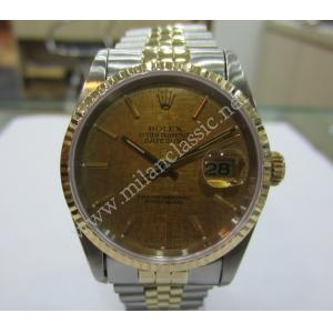 SOLD-Rolex 16233 Gold Index Dial Auto 18K/SS 36mm