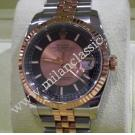 SOLD(已售出) - Rolex 116231 Gents Pink Champagne/Black Dial Auto 18K Rose gold/Steel 36mm (With Box + Card)