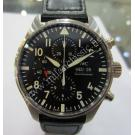 sold NEW- IWC Pilot Chrono Black Dial Auto Steel/Leather 43mm (With Box + Card)