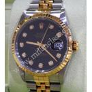 Rolex 16233 Black Dial with Diamonds Index Auto 18K/SS 36mm (With Box)
