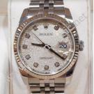 "Rolex 116234 Silver Computerize With Diamond Index Dial Auto S/S 36mm ""Z-Series"" (With Paper + Box )"