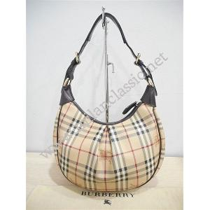 Burberry Canvas Haymarket Medium Zipped Hobo-025120