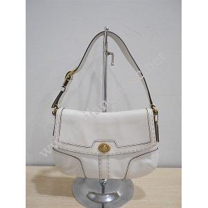 Coach Beige Leather Shoulder Bag-25083
