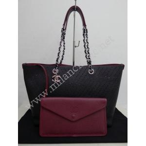 SOLD - Chanel Black Calfskin Large Shopping Tote With SHW