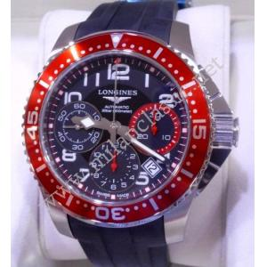 sold-NEW - Longines Hydroconquest Gents Chrono Black Dial Auto Steel/Rubber 41mm (With Box + Card)
