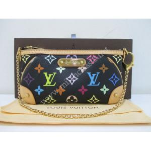 SOLD-LV Black Multicolor Pochette Milla MM
