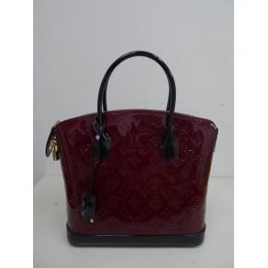 SOLD-NEW - LV Monogram Vernis Lockit PM (Griotte)