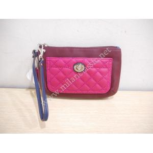 Coach Burgundy/Pink Quilted Leather Wristet