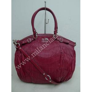 Coach Red Leather Zipped 2-Way Bag
