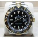 Rolex 116713LN GMT Black Ceramic Bezel 18K/SS Auto 40mm (With Card + Box)