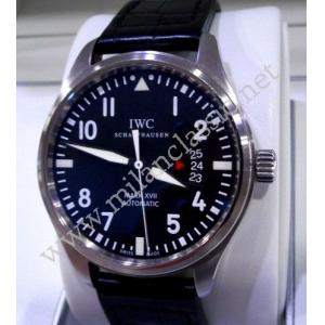 SOLD-IWC Pilot Mark XVII Black Alligator Auto Steel/Leather 41mm (With Box + Card)