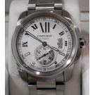 Cartier Calibre De Cartier Silver Roman Letter Dial Auto S/Steel 42mm ( With Box + Paper )