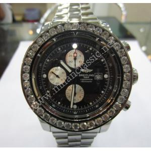 Breitling Super Avenger Chrono Diamond Bezel Black Dial Auto S/S 48mm