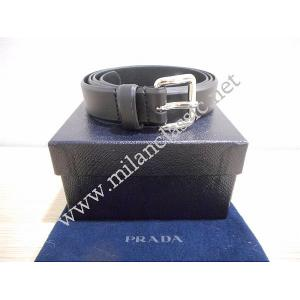 NEW - Prada Black Leather Belt (Unisex)