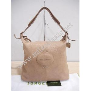 Longchamp Brown Leather Zipped Shoulder Hobo