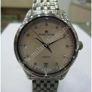 SOLD - Maurice Lacroix Les Classiques Date Midsize M.O.P Diamond Dial S/S Auto 33mm(With Card)