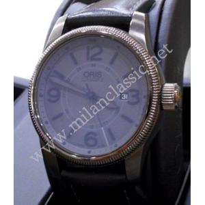 SOLD-Oris Big Crown Date Grey Dial PVD coating case 44mm (With Box + Card)