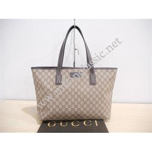 Gucci Brown Waterproof Canvas Zipped Shoulder Tote