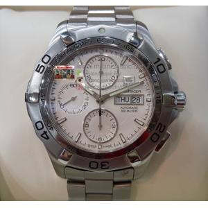 TAG HEUER Aquaracer Chrono Day-Date White Dial S/S Auto 43mm(with Card + Box)