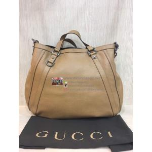 GUCCI Camel Color Leather 2-Way Bag