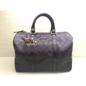 GUCCI Waterproof Canvas Boston Handbag
