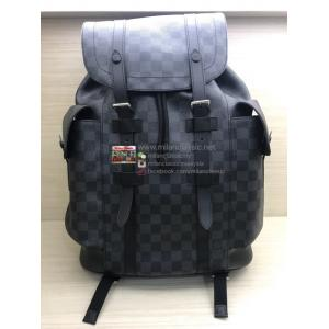 SOLD - LV Damier Graphite Christopher Backpack PM (HOT-STAMPING)