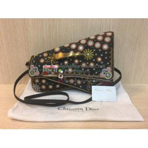 SOLD - LIMITED - Christian Dior Black Denim Montaige Crossbody Bag (Emboidery/Beads)