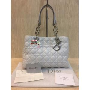 DIOR White Lambskin Shoulder Tote