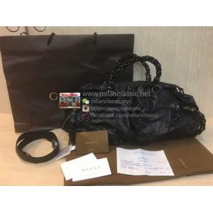 GUCCI Black Leather 2-Way Bag