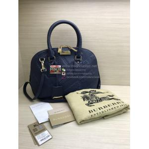 BURBERRY Blue Leather 2-Way Bag