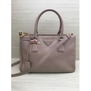 PRADA Soft Pink Saffiano Galleria 2-Way Bag Small