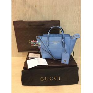 GUCCI Sky-Blue Leather 2-Way Bag