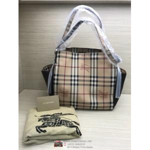 SOLD-NEW - BURBERRY Canterbury Haymarket Brown Medium Checks Tote