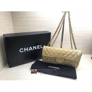 CHANEL Gold Leather Flap Bag