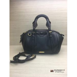 BURBERRY Dark Brown Leather 2-Way Bag