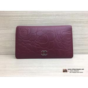 SOLD - CHANEL Camelia Leather Wallet