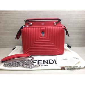 FENDI Red Leather 2-Way Bag