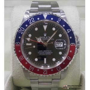 "ROLEX 16710 GMT II Pepsi Bezel Auto S/S 40mm ""D-Serial"" (Box + verified Paper)"