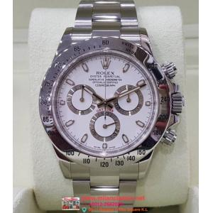 "SOLD-Rolex 116520 Daytona White Dial S/Steel Auto 40mm ""Random Series"" (with Card + Box)"